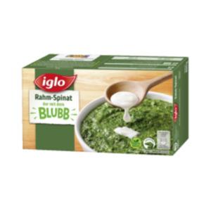 Iglo Rahm-Spinat, Junger Spinat, Würzspinat oder Blattspinat Minis