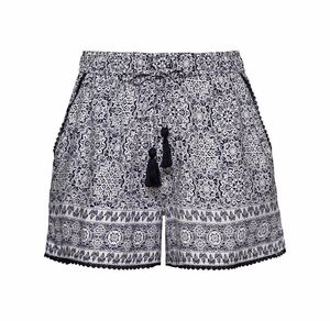 Laura Torelli Young Fashion Damen-Shorts mit tollem Muster
