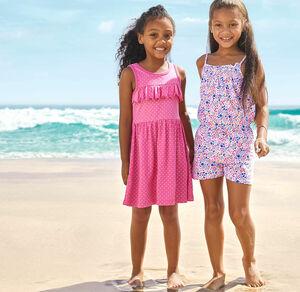 Kids Mädchen-Kleid mit süßen Rüschen