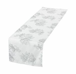 Home Tischläufer mit Blumenmuster, ca. 40x140cm
