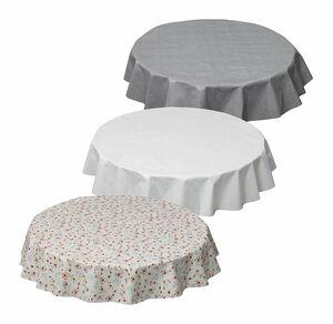Home Wachstuchtischdecke für runde Tische, Ø ca. 140