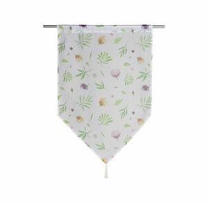 Home Kurzgardine mit floralen Motiven, ca. 60x90cm