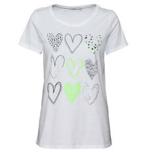 CECIL             T-Shirt, Rundhalsausschnitt, Herz-Print