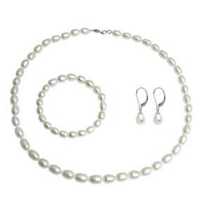 TIETZIAN HÉRITIER             Set Kette, Armband und Ohrhänger aus Süßwasser-Zuchtperlen