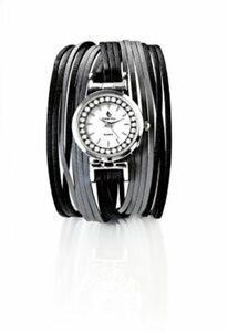 """CB Armbanduhr """"Leona"""" mit Magnetverschluss, schwarz"""