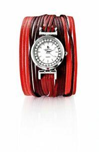 """CB Armbanduhr """"Leona"""" mit Magnetverschluss, bordeaux"""