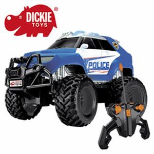 R/C Police Offroader mit Licht und Sound, Größe: ca. 19 cm, ab 6 Jahren, inkl. Batterien