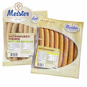 Meister  Delikatess Wiener oder Geflügelwiener jede 800-g-SB-Packung
