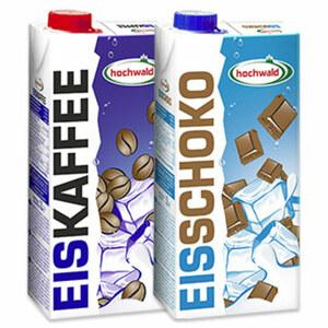 hochwald Eiskaffee oder Eisschokodrink jede 1-Liter-Packung