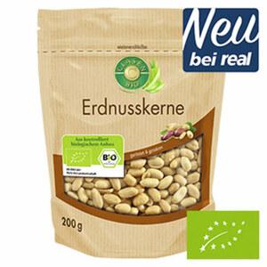 Clasen Bio Erdnusskerne geröstet & gesalzen jeder 200-g-Beutel