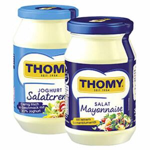 Thomy Salatcreme oder Salat Mayonnaise versch. Sorten, jedes 250-ml-Glas