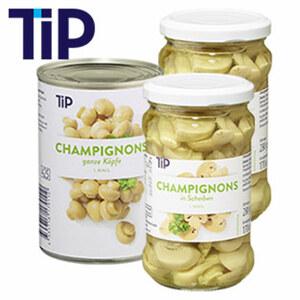 Champignons I. Wahl in Scheiben  in Scheiben oder ganze Köpfe jede 425-ml-Dose/230 g Abtropfgewicht jedes 314-ml-Glas/170 g Abtropfgewicht, ab 3 Gläsern je