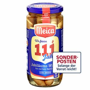Meica Jubiläums-Wiener im zarten Saitling jedes 6 Stück = 150-g-Glas
