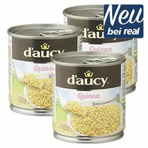 D`AUCY Quinoa, Sojabohnen oder Dinkel jede 212-ml-Dose/150-g-Abtropfgewicht, ab 3 Dosen je