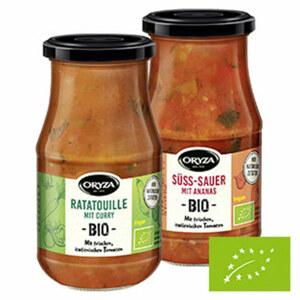 Oryza Bio Sauce versch. Sorten, jedes 410-g-Glas