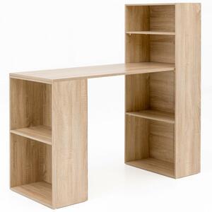 WOHNLING Schreibtisch mit Regal 120 x 120 x 53 cm Sonoma