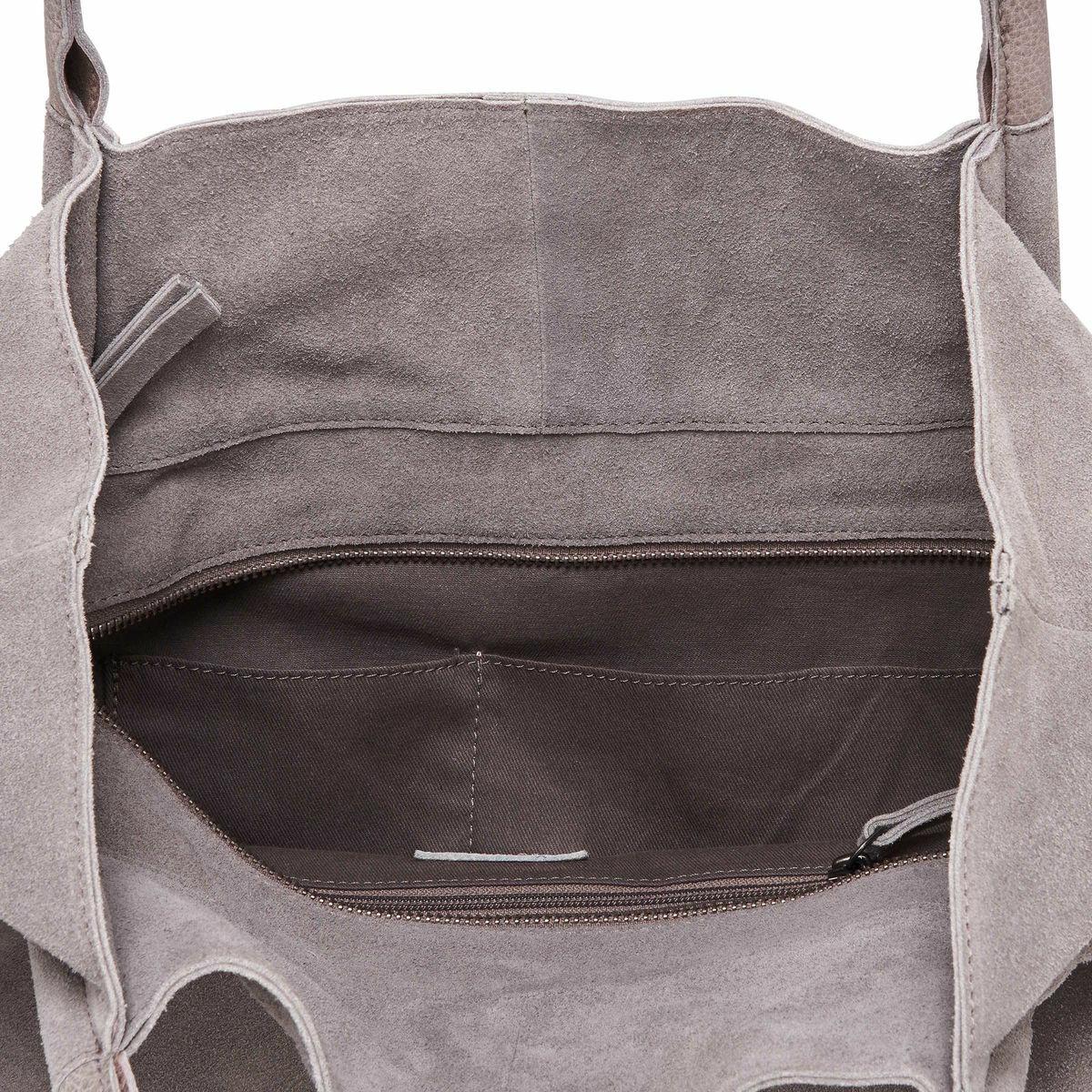 Bild 4 von Echtleder Shopper grau-silber