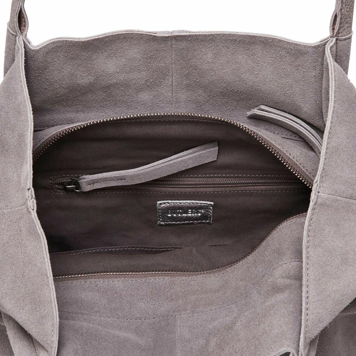 Bild 5 von Echtleder Shopper grau-silber