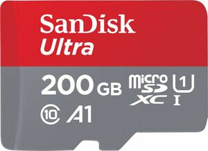 Sandisk Ultra Android microSDXC 200GB A1 UHS-I + SD Adapter