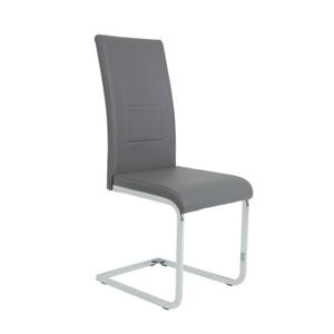 Stuhl Joana Kunstleder Grau ca. 46 cm