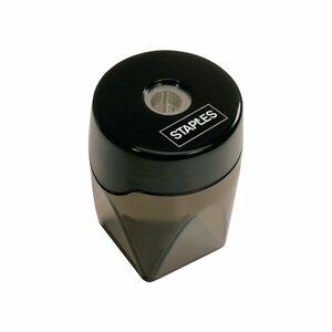 Staples Bleistiftspitzer-Behälter, 1 Loch, Kunststoff, Schwarz