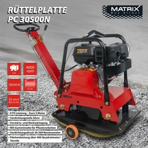 Matrix reversierbare Rüttelplatte PC 30500 N