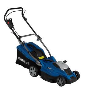 HYUNDAI Elektro-Rasenmäher LM3601E mit Mulchfunktion (36 cm Schnittbreite, Elektromotorleistung:  1600W, 45 Liter Hybrid-Fangkorb mit Füllstandsanzeige und Tragegriff, mit Mulchfunktion, Schnitthö