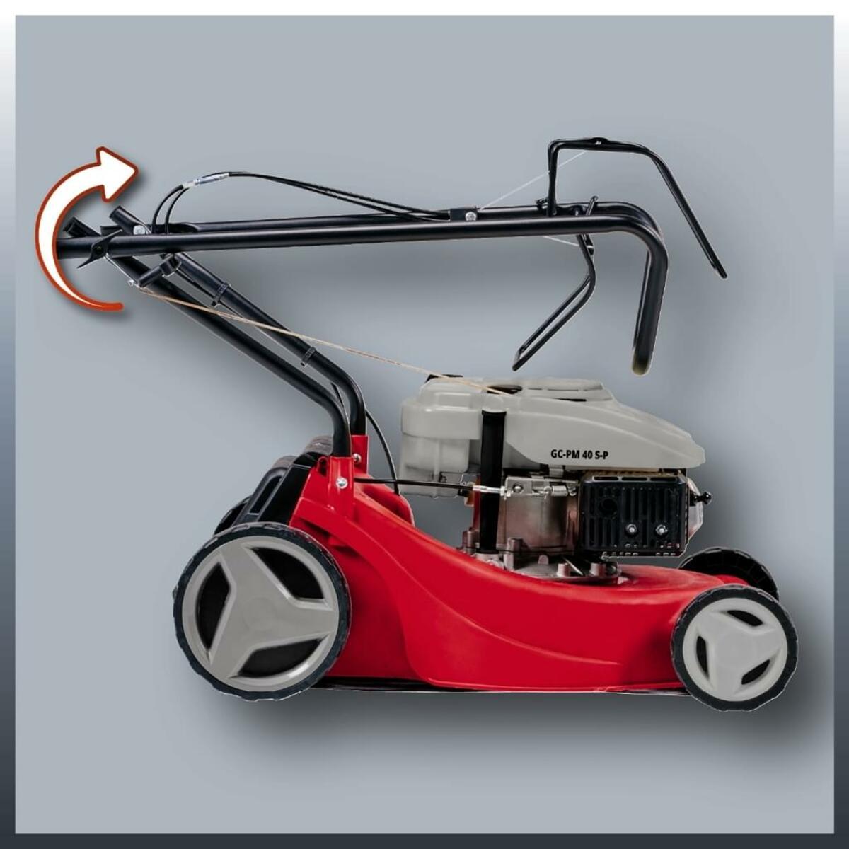 Bild 3 von Einhell Benzin-Rasenmäher GC-PM 40 S-P, Leistung 1,2 kW, Hubraum 99 cm³, Schnittbreite 40 cm, 3404780