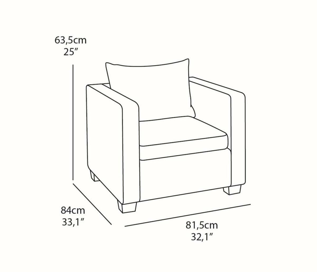 Bild 2 von Salta Lounge-Sessel, Braun