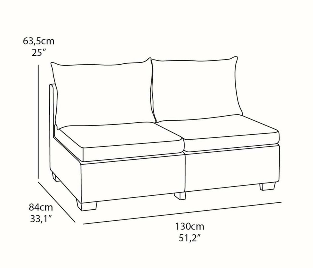 Bild 2 von Sapporo Lounge 2-Sitzer-Sofa Graphitgrau
