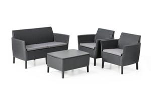 Allibert Salemo Lounge-Set,  Farbe Graphite
