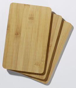 Steinbach Schneidbretter aus Bambus 22 x 14 cm, 3-teiliges -Set
