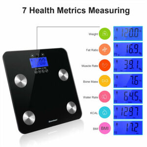 Personenwaage Körperfettwaage EXCELVAN Body Fat Scale High Precision LCD Display