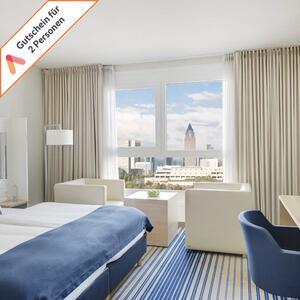 Kurzreise Frankfurt zentral 3 Tage 4 Sterne Welcome Hotel für 2 Personen Sauna mit Skylineblick! Animod