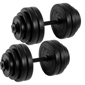 MOVIT® 2x 15 kg Hantelset - Kurzhanteln - Maße: L 45 cm - Stärke: Ø 25 mm