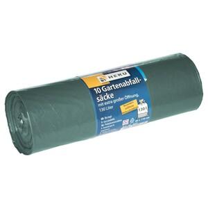 Gartenabfallsäcke 130 Liter 10 Stück grün extra stark