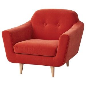KLUBBFORS                                Sessel, Samt orange