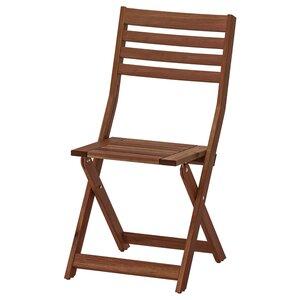 ÄPPLARÖ                                Stuhl/außen, faltbar braun las.