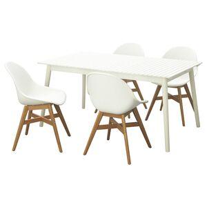 HATTHOLMEN / FANBYN                                Tisch+4 Stühle/außen, weiß, weiß