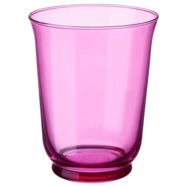 POMP                                Vase/Windlicht, rosa, 18 cm