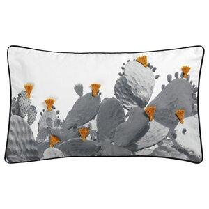 TILLTALANDE                                Kissenbezug, Kaktusmuster, schwarz, 40x65 cm
