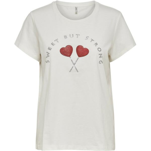 Damen Only Shirt mit Glitterprint