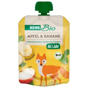 REWE Bio Apfel Banane 90g Pouch