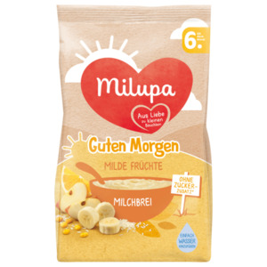 Milupa Guten Morgen Milde Früchte Milchbrei ab dem 6. Monat 400g