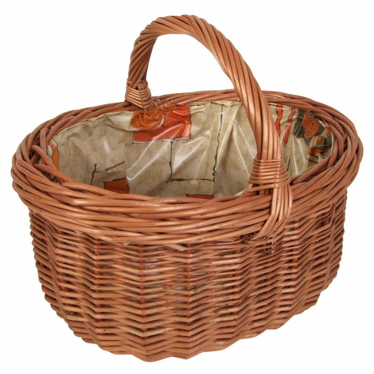 Bild 3 von Weiden-Einkaufskorb mit Innenfolie