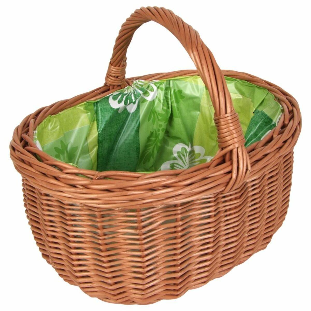 Bild 4 von Weiden-Einkaufskorb mit Innenfolie