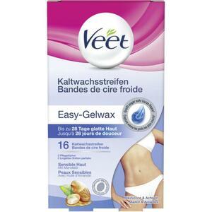 Veet Easy-Gelwax Kaltwachsstreifen für Bikinizone & Achseln