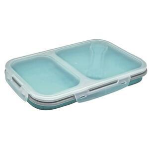 IDEENWELT faltbare Lunchbox groß türkis