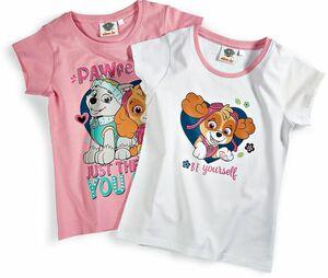 Kinder T-Shirt, 2er Pack - Paw Patrol Girls, Gr. 110/116