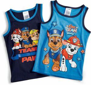 Kinder Unterhemd, 2er Pack - Paw Patro Boys, Gr. 98/104